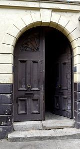 Entrance door of 19 Princelet Street - the entrance to a time capsule of 300 years of Spitalfields life.