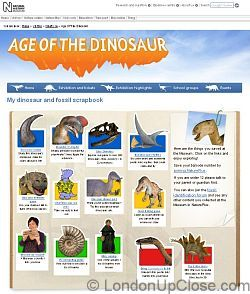 Our virtual scrapbook of dino puzzles and info to access at home after visiting the Age of the Dinosaur Exhibition, Natural History Museum