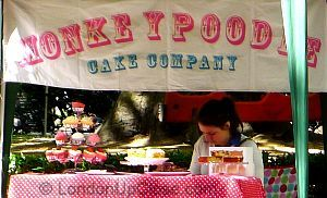 Scrumptious cakes from the lovely Monkey Poodle cake stand at the Cabbages and Frocks Saturday Market, Marylebone