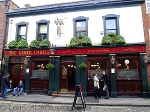 Not a pub you are likely to just stumble upon... The Dover Castle pub in Marylebone, London, is tucked away in a quiet mews street.