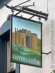 Dover Castle, pictured on the pub sign, was constructed in late 12th century for King Henry II.