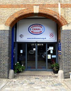 The London Canal Museum is tucked away in a street behind King's Cross Station.