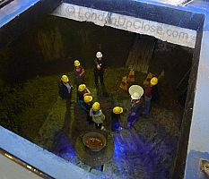 The partially excavated ice wells at the London Canal Museum are open to the public just once a year on 'Ice Sunday'.