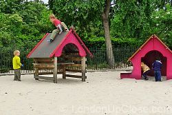 The sand pit at Marylebone Green Children's Playground, Regent's Park