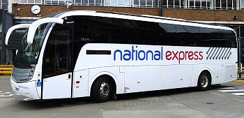 National Express Coach in Victoria Coach Station
