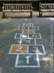 Fancy a game of hopscotch at Paddington Street Children's Playground in Marylebone?
