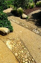 Cobbles and textures in the sensory garden of the Princess Diana Memorial Playground.