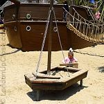 The little boats at the Princess Diana Memorial Playground are lots of fun for smaller children.
