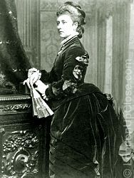 Princess Louise (1848-1939) in a photographic portrait taken circa 1870s.