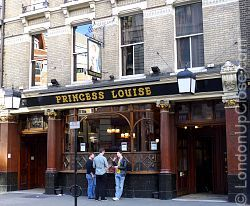 The Princess Louise Pub at 208-209 High Holborn, London, is a late Victorian time capsule.